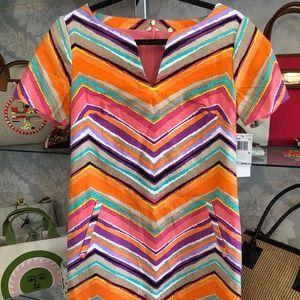 TRINA TURK Multi Color Striped Cotton Dress
